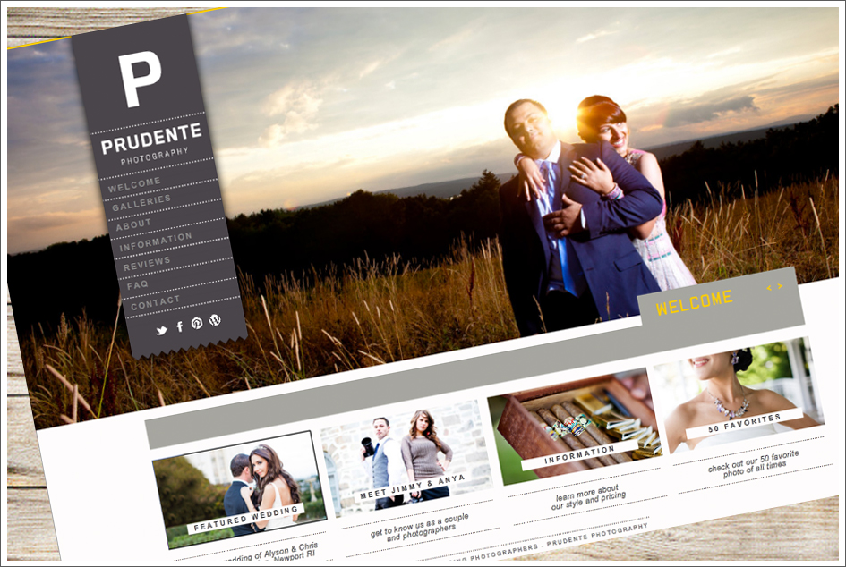 New Branding look for Prudente Photography