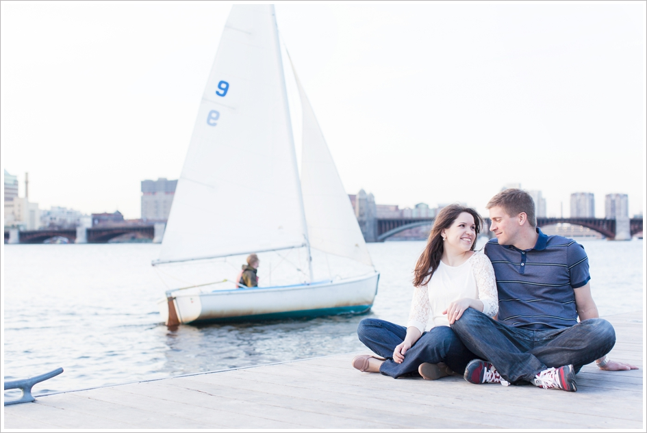Charles river engagement photos