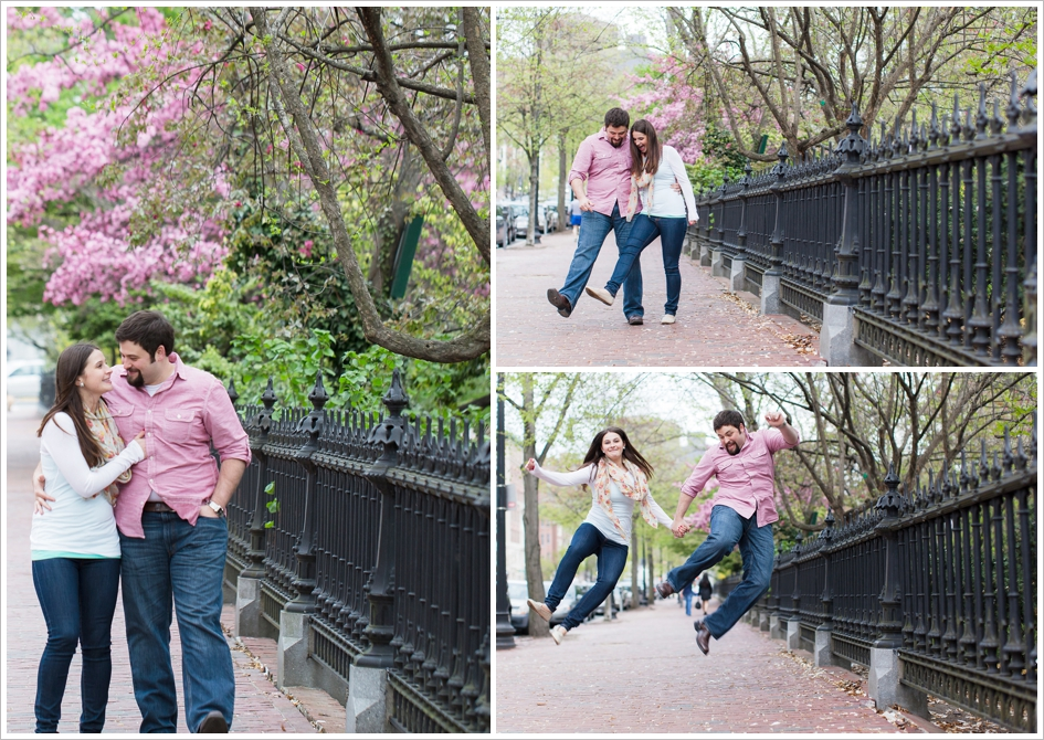Public garden engagement photography