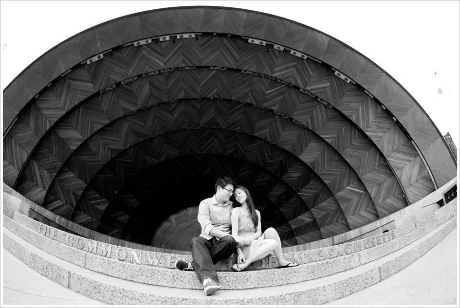 Esplanade engagement photography