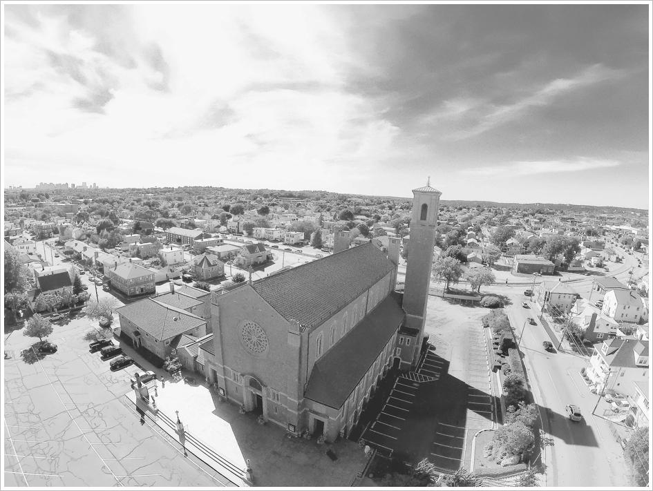 Aerial Church Photography Boston, MA