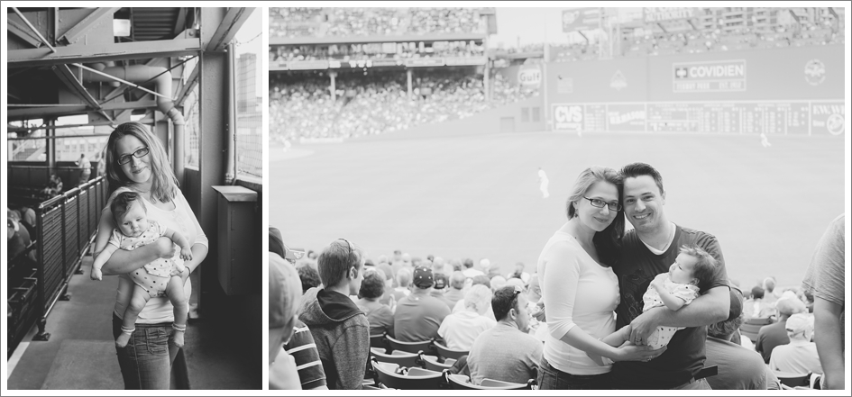 Boston wedding photographers at red sox game