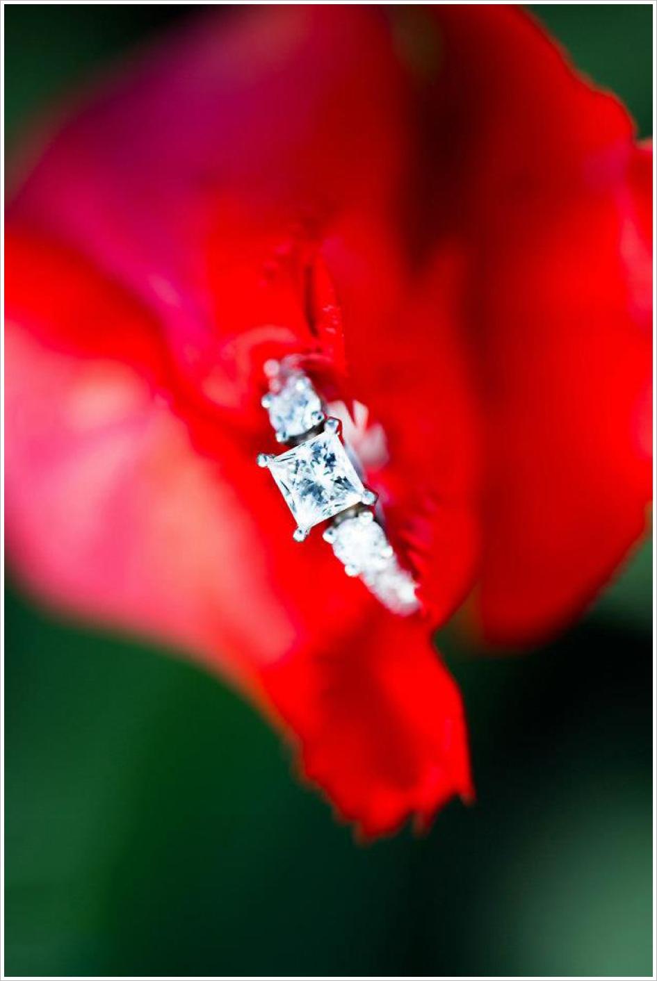 Vibrant Sharp Engagement Ring Photo