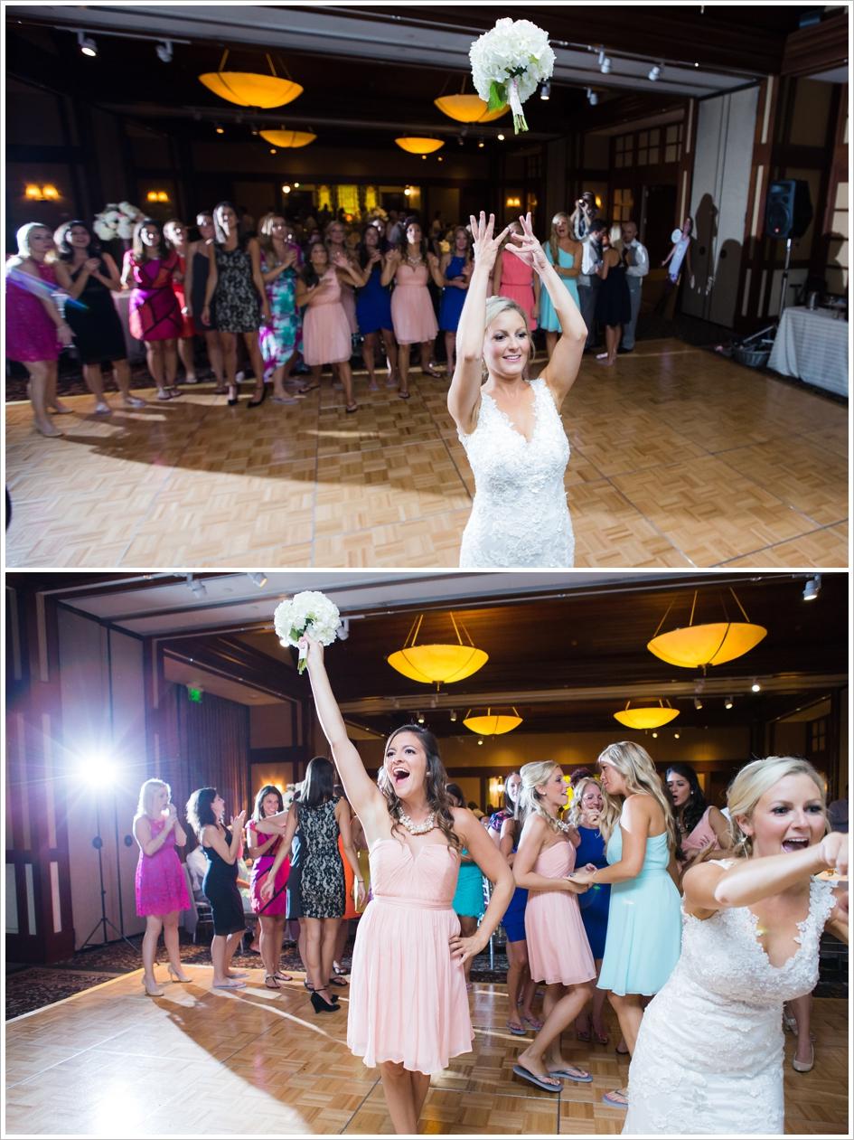 Bouquet Toss Worcester, MA Beechwood Hotel Wedding Assumption College Chapel