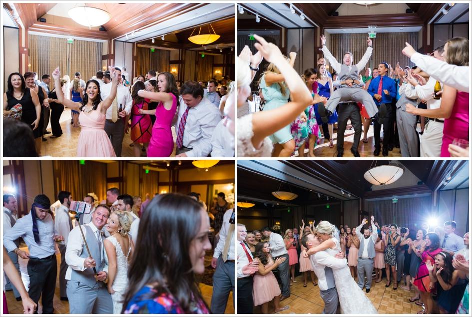Fun Bridal Party Dancing Wedding Photography Worcester, Boston, MA Assumption College Chapel Beechwood Hotel