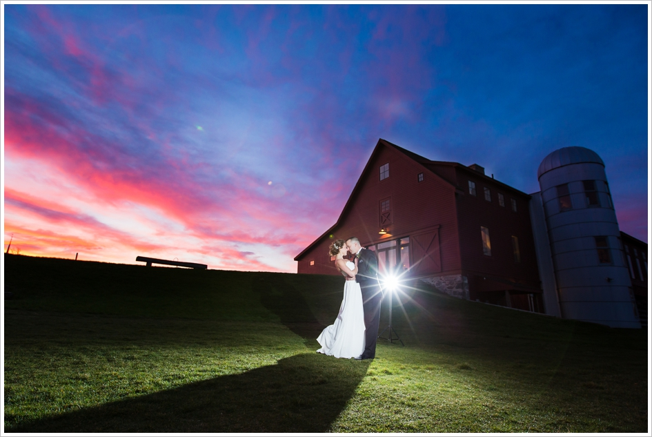 Purple hill barn wedding