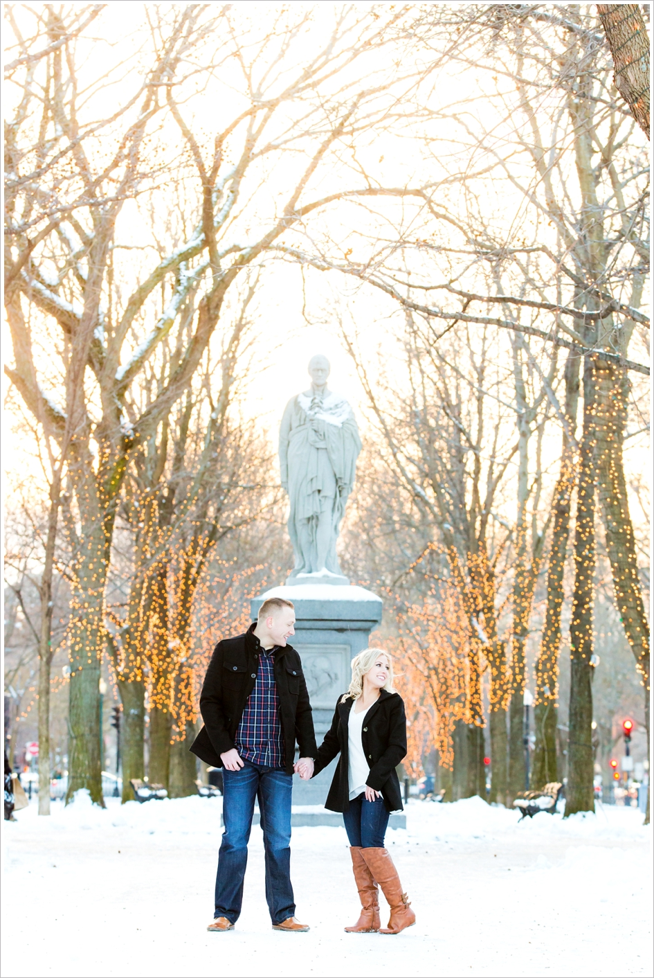 boston public gardens and beacon hill engagement session